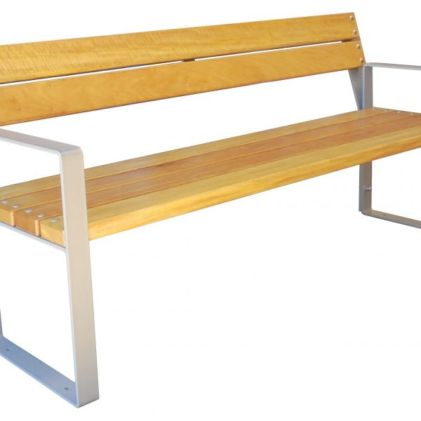 Bench Simply with backrest – hardwood