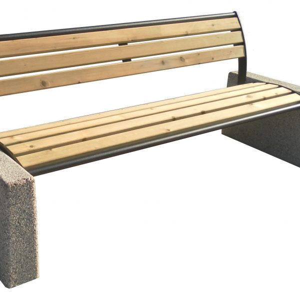 Bench Tauri Classic wood with backrest