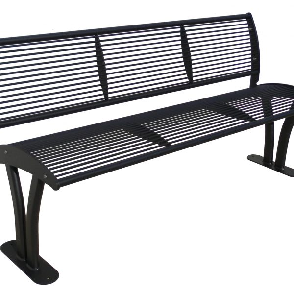 Bench Tauri with backrest