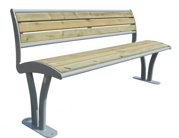 Bench Tauri wood with backrest